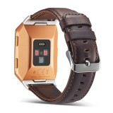 Fitbit Ionic Leather Bands Miimall Retro Genuine Double Layers Leather Replacment Band Straps With Stainless Steel Connectors For Fitbit Ionic Smartwatch Women Men Best Price