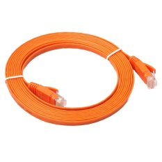 FLAT Ethernet CAT6 Network Cable Patch Lead RJ45 for PC/PS4/Xbox(Orange)-3M - intl