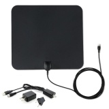 Compare Flat Hd Tv Amplified Digital Indoor Antenna High Gain Hdtv 50 Miles Range Atsc Dvb Isdb With Detachable Signal Amplifier 10Ft High Performance Coax Cable Intl