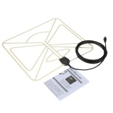Sales Price Flat Hd Tv Digital Indoor Antenna Hdtv High Gain 35 Miles Range Atsc Dvb Isdb With 10Ft High Performance Coax Cable Intl