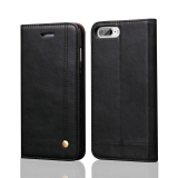 Flip Cases For Apple Iphone 7 Plus 5 5 Inch Ios Smartphone Drawing Magnet Design Stand Feature Shock Absorbing Premium Soft Pu Leather Wallet Cover Case Black Intl In Stock