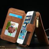 Lowest Price Flip Cover Leather Wallet Phone Case For Apple Iphone 5 5S Se With Card Holder Brwon Intl