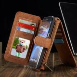 Buy Cheap Flip Cover Leather Wallet Phone Case For Samsung Galaxy S7 Edge With Card Holder Brwon Intl