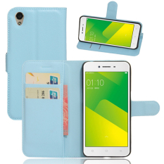 Flip PU Leather Cover Case For Oppo A37 Oppo Neo9 Blue intl .