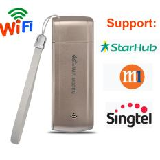 Flora 4G Fdd Lte 100Mbps Wifi Router Hotspot Usb Wifi Dongle Wireless Router Support 4G Band1 Band3 Gold Intl Flora Cheap On China