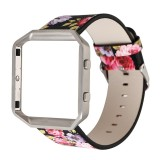 Retail Floral Leather Strap Replacement Watchband Frame Holder Shell For Fitbit Blaze Intl