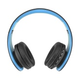 Foldable Wireless Headphone Card Radio Bluetooth Stereo Headset Blue Intl Oem Discount