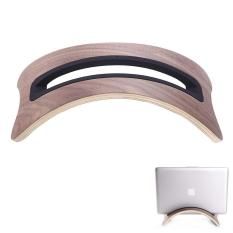 foorvof Walnut Color Modern Wood Desktop Stand For MacBook Pro (Brown)