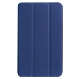 Brand New For Acer Iconia One 8 B1 850 Custer Texture Horizontal Flip Solid Color Leather Case With Three Folding Holder Dark Blue Intl
