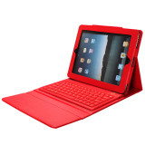 Top 10 For Apple Ipad 4 3 2 Tablet Pu Leather Case Cover With Bluetooth Keyboard Red Export