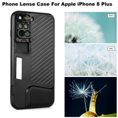New For Apple Iphone 8 Plus Phone Dual Camera Lens Fisheye Wide Angle Macro Telescope Camera Phone Lense With Protection Case Intl
