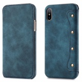For Apple Iphone X Case Simple Luxury Pu Leather Cell Phone Wallet Case Vintage Designer Folio Flip Cover With Card Slot Intl Promo Code