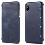 Buy For Apple Iphone X Leather Case Simple Luxury 100 Genuine Top Cow Oil Wax Leather Cell Phone Wallet Case Vintage Designer Folio Flip Cover With Card Slot Intl Online China