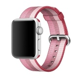 Brand New For Apple Watch 38Mm Stripe Woven Nylon Watchband Berry Color Intl