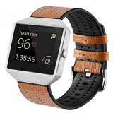 Sale For Fitbit Blaze Bands With Frame Tengl Leather Tpu Replacement Sport Strap With Sliver Frame For Fitbit Blaze Smart Fitness Watch Large Small Brown Intl Not Specified Original