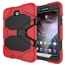 Buy For Galaxy Tab S2 8 Caes Shockproof Dust Proof Waterproof Hard Hybrid Armor Heavy Duty Design With Kickstand Out Screen Protection Case For Galaxy Tab S2 8 Sm T710 Sm T715 8Inch T710 G Red Intl Oem Original