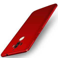 Sale For Huawei Mate 9 5 9 Inch Case 360 Full Protection Matte Hard Plastic Slim Back Cover Red Intl Oem