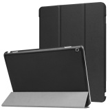 Buy For Huawei Mediapad M3 Lite 10 Inch Ultra Slim Tri Fold Stand Case Pu Leather Folio Tablet Cover Black Intl Moonmini Original