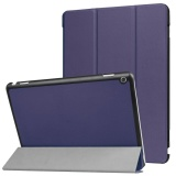 Sale For Huawei Mediapad M3 Lite 10 Inch Ultra Slim Tri Fold Stand Case Pu Leather Folio Tablet Cover Dark Blue Intl China