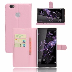 For Huawei note 8 Flip Leather with Deluxe Credit Card Flip cover case phone case(Pink) - intl