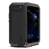 New For Huawei P10 Plus 5 5 Inch Case Armor Aluminum Metal Waterproof Shockproof Dropproof Luxury Case Cover Coque Black Intl