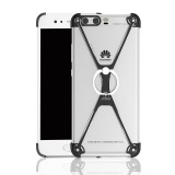 Where To Shop For For Huawei P10 Plus Vky Al100 5 5 Inch Protect Frame Cover Ring Holder X Shape Ultra Thin Aluminum Metal Shockproof Bumper Mobile Phone Case Black Intl