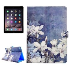 Top 10 For Ipad Air 2 Ipad 6 White Flowers Pattern Horizontal Flip Leather Case With Holder And Card Slots And Wallet Intl