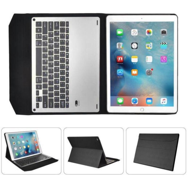 For iPad Air2 9.7inch Ultra Aluminum Bluetooth Keyboard Leather Case Cover BK Singapore