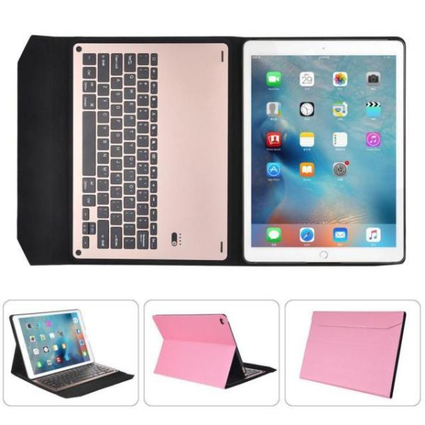 For iPad Air2 9.7inch Ultra Aluminum Bluetooth Keyboard Leather Case Cover PK Singapore