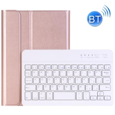 For iPad Mini 4 Ultra-thin ABS Bluetooth Keyboard Horizontal Flip Leather Case with Holder