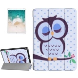 Best Rated For Ipad Pro 10 5 Inch Pu 3 Folding Dot And Owl Pattern Smart Case Clear Back Cover With Holder Intl