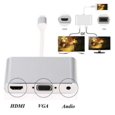 Price For Iphone 5 6 6S 7 7 Plus Lightning To Av Tv Hdmi Vga Audio Video Cable Adapter Intl Oem