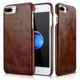 Cheapest For Iphone 7 Plus Leather Case Xoomz Vintage Series Genuine Leather Back Cover Snap Case With Business Style Gold Plating Design For Apple Iphone 7 Plus 5 5 Inch Ultra Slim Style Coffee Intl Online