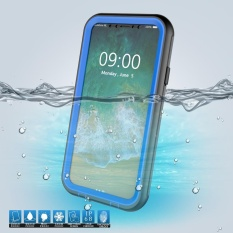 Buy For Iphone X Ten Ip68 10M 24H Underwater Waterproof Case Shell With Responsive Buttons Blue Intl Oem Cheap