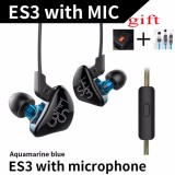 Purchase For Kz Es3 Ba Dd In Ear Earphone Hybrid Headset Hifi Bass Noise Cancelling Earbuds Sport Running Headset Running Headset With Microphone Intl
