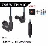 Review For Kz Zs6 2Dd 2Ba Hybrid In Ear Earphone Hifi Dj Monito Running Sport Earphones Earplug Headset Earbud Eight Driver Earphone Dynamic And Armature With Microphone Intl China