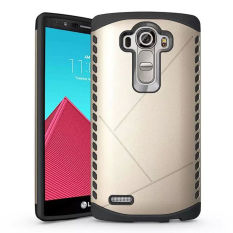 Retail For Lg G4 Case Dual Layer Slim Armor Soft Silicon Hard Pc Hybrid Back Phone Case Shockproof Cover Gold Intl
