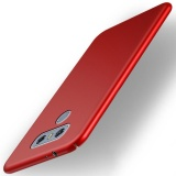 Cheaper For Lg G6 5 7 Inch Case 360 Full Protection Matte Hard Plastic Slim Back Cover Red Intl