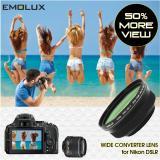 Low Cost For Nikon Dslr Emolux Pro Hd Ii 45X Wide Converter Lens For Nikon D5500 D5200 D5100 D3300 D3200 D3100 With Af S Dx 18 55 G Vr 52Mm