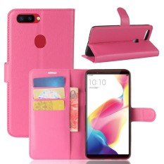 For OPPO R11s Litchi Grain PU Leather Wallet Case with Flip Stand Function and Card Slots