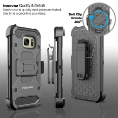 For Samsung Galaxy S7 Edge Heavy duty Shockproof Kickstand Armor Case With Belt Clip Holster -