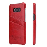 For Samsung Galaxy S8 Plus Sm G9550 6 2 Inch Mobile Phone Case Luxury Ultrathin Genuine Leather Back Hard Cover Case With Card Slot Red Intl For Sale Online