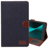 Best Reviews Of For Samsung Galaxy Tab A 8 2017 T380 T385 Denim Texture Pu Leather Case With Holder And Card Slots And Wallet Black Intl