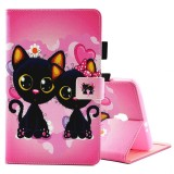 Lowest Price For Samsung Galaxy Tab A 8 T380 And T385 Two Cats Pattern Horizontal Flip Leather Case With Holder And Card Slots Intl
