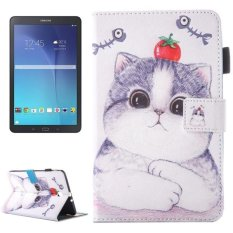 Discount For Samsung Galaxy Tab E 9 6 T560 Lovely Cartoon Tomato Cat Pattern Horizontal Flip Leather Case With Holder And Card Slots And Pen Slot Intl China