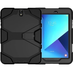 Sale For Samsung Galaxy Tab S3 9 7 Case Shockproof Dust Proof Anti Scratch Hard Hybrid Armor Heavy Duty Design With Kickstand Protection Case Build In Out Screen Protector Cover For Sm T820 T825 Black Intl Oem