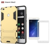 For Xiao Mi Max 2 Armor Shockprooof Built In Stand Phone Protective Case Cover With Full Coverage Anti Scratch Tempered Glass Screen Protector Film Intl Lowest Price