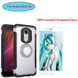 Sale For Xiao Mi Red Mi Note 4X 4 Snapdragon Version Armor Shockproof Built In Ring Stand Vehicle Mounted Adsorb Case Cover With 3D Full Coverage Anti Scratch Tempered Glass Screen Protector Film Intl Online China