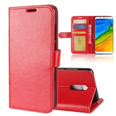 For Xiaomi Redmi 5 Plus PU Leather Case Card Slot Protective Cover with Magnetic Closure -