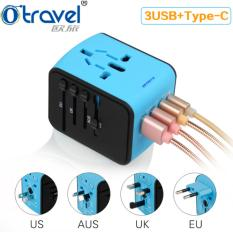 Sale Usb Type C Global Travel Adapters Converters Conversion Plugs Universal Multi Function Gifts Travel Go Universal Conversion Socket Intl Singapore